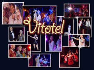 Spectacles itinérants- shows - Le Vitotel Cabaret vous offre un spectacle de cabaret itinérant pétillant. Avec Quovadis Show, ils vous présent un magicien, des danseurs et acrobates qui vous feront vivre une expérience de cabaret inoubliable.