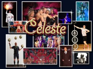 Spectacles itinérants- shows - Celeste, un spectacle de cabaret itinérant pétillant. Avec Quovadis Show on découvre avec émerveillement des performances artistiques exceptionnelles.
