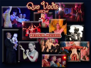plan du site - quovadis show - spectacle - cabaret - itinerant - attractions  visuelles