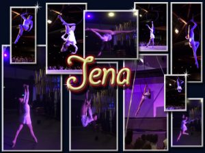 cerceau aerien Jena quvadis show attraction visuelle